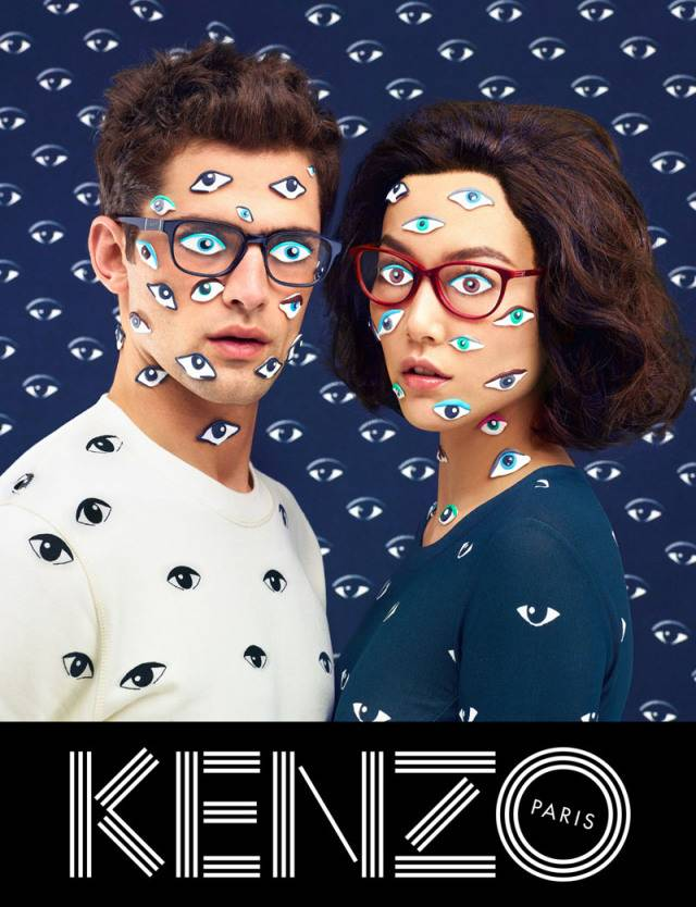 Marque: Kenzo Mannequins:Sean O'Pry et Rinko Kikuchi Photographes: Maurizio Cattelan, Pierpaolo Ferrari et Micol Talso