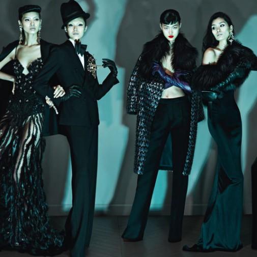 Dsquared2 Modèles : Ming Xi, Xiao Wen Ju, Jia Jing, Tyan Ji, Grace Guozhi Photographes : Mert & Marcus