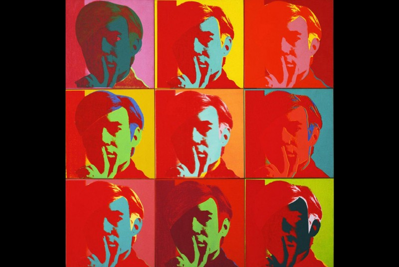 Andy-Warhol-Self-Portrait-1966.-Silkscreen-ink-on-synthetic-polymer-paint-on-nine-canvases